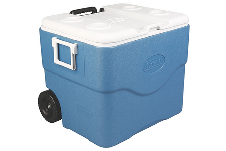 75 QUART XTREME 5 WHEELED COOLER BLUE