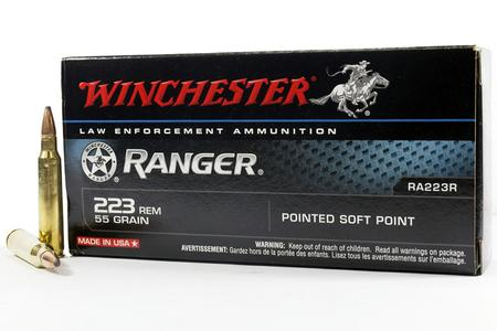 Winchester 223 Rem 55 gr Soft Point Ranger Trade Ammo 20/Box