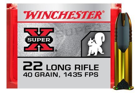 Winchester 22LR 40 gr Copper Plated HP Hyper Velocity Super-X 100/Box