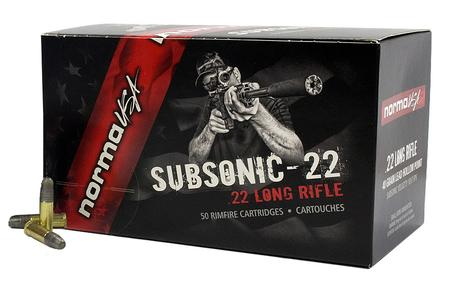 Norma Usa 22LR 40 gr Lead Hollow Point Subsonic-22 50/Box