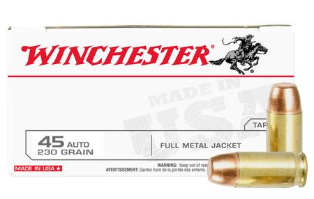 Winchester 45 Auto 230 gr FMJ Police Trade-in Ammo 50/Box