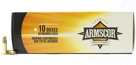 Armscor 22LR 36 gr JHP Precision Rimfire 500 Round Brick