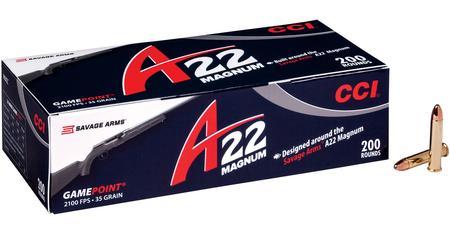CCI AMMUNITION 22 WMR 35 gr Game Point A22 200/Box