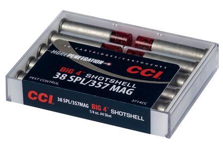 CCI 38 Special/357 Mag 81 gr #4 Shot Big 4 Shotshell 10/Box