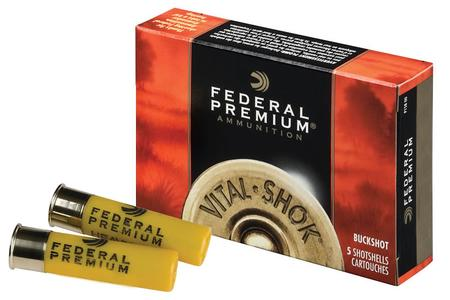 Federal 20 Gauge 2 3/4 in 20 Pellet #3 Vital-Shok Buckshot 5/Box