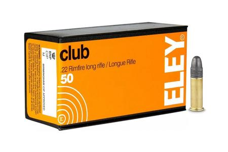 Eley 22LR 40 gr Lead Round Nose Club 50/Box