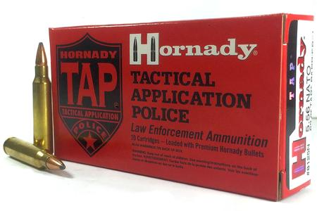 HORNADY 5.56 NATO 62 gr Soft Point TAP Barrier Trade Ammo 20/Box