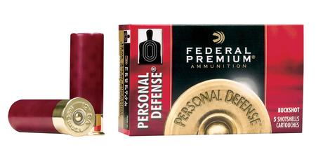 FEDERAL AMMUNITION 12 Gauge 2 3/4 in 34 Pellet #4 Buck Personal Defense 5/Box