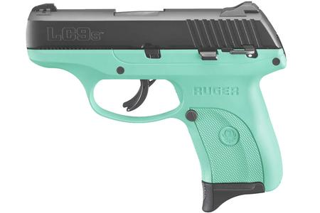RUGER LC9S 9MM LUGER TURQUOISE GRIP FRAME