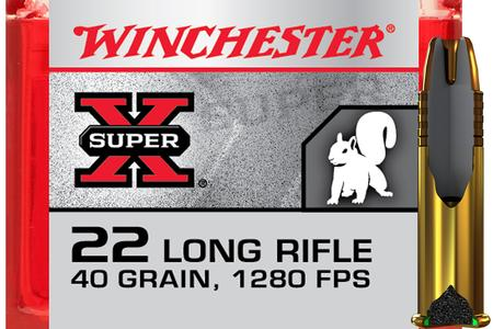 Winchester 22LR 40 gr Power-Point Copper Plated Super X 100/Box