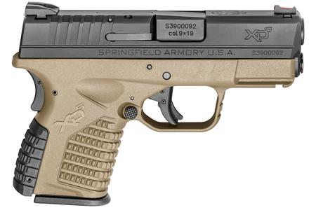 SPRINGFIELD XDS 3.3 SINGLE STACK 9MM FDE ESSENTIALS
