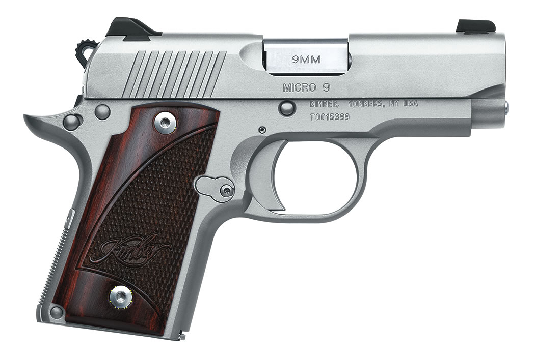 No. 14 Best Selling: KIMBER MICRO 9 STAINLESS 9MM W/ ROSEWOOD GRIPS