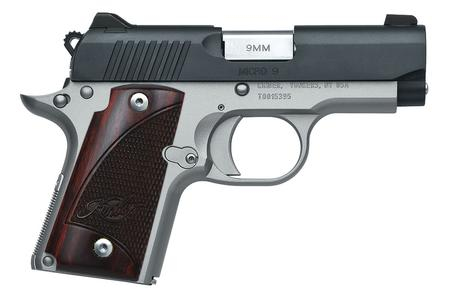 KIMBER MICRO 9 TWO-TONE 9MM WITH ROSEWOOD GRIPS