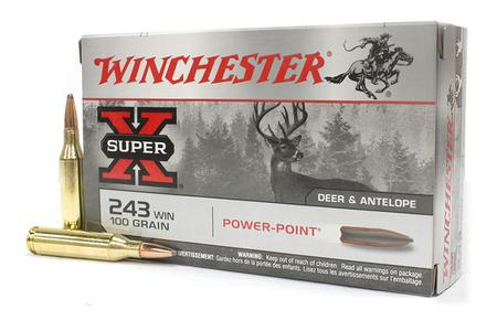 WINCHESTER AMMO 243 Win 100 gr Power Point Super X 20/Box