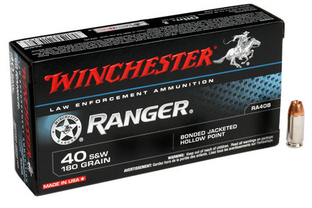 WINCHESTER AMMO 40SW 180 gr JHP Ranger Bonded 50/Box (LE)