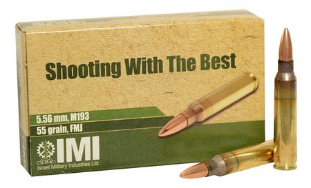 IMI M193 5.56mm 55 gr FMJ 20/Box