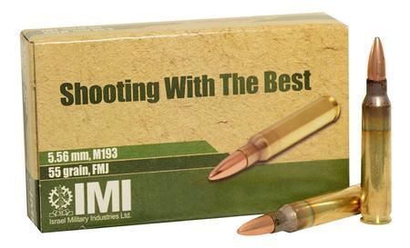 M193 5.56MM 55GR FMJ BALL 20/BX