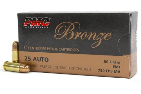 PMC 25 Auto 50 gr FMJ Bronze 50/Box