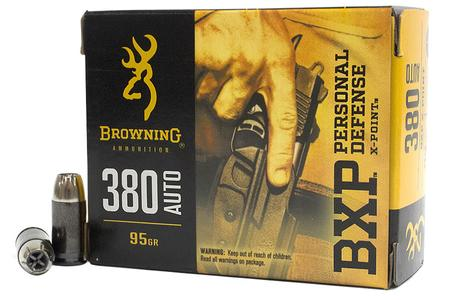 Browning 380 Auto 95 gr X-Point Hollow Point BXP Personal Defense 20/Box