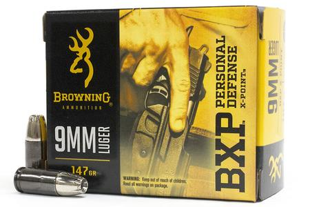 Browning 9mm Luger 147 gr X-Point Hollow Point BXP Personal Defense 20/Box