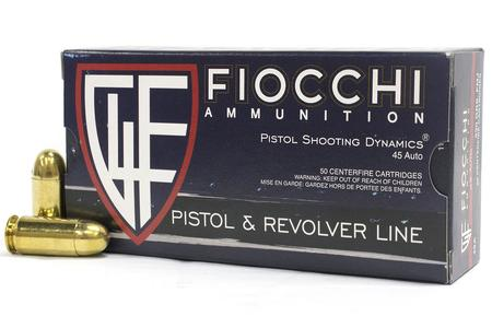 Fiocchi 45 Auto 230 gr FMJ Pistol and Revolver 50/Box