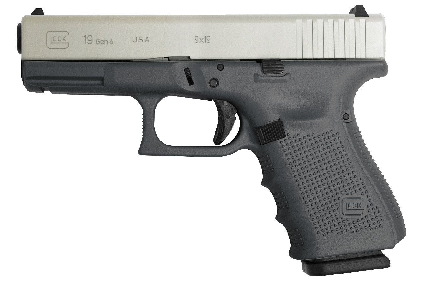 Glock 19 Gen4 9mm 15-Round Pistol with Battleship Gray Cerakote ...