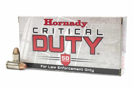 Hornady 45 Auto+P 220 gr Critical Duty Police Trade Ammo 50/Box