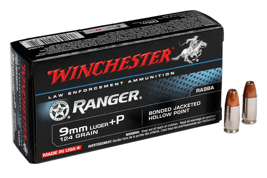 9MM 124 GR. JHP RANGER BONDED 50/BOX