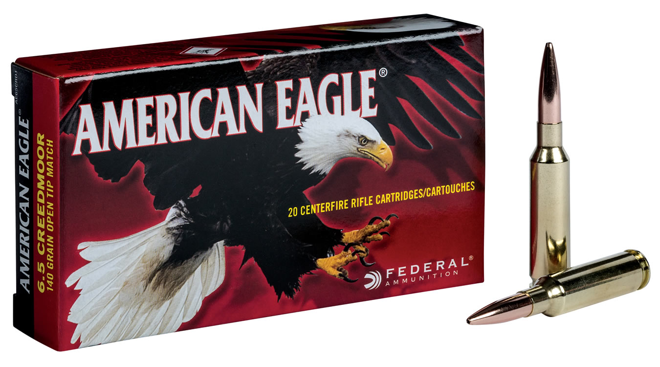 Federal 6.5mm Creedmoor 140 gr Open Tip Match (OTM) American Eagle ...