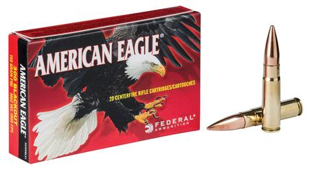 Federal 300 Blackout 150 gr FMJ Boat Tail American Eagle 20/Box
