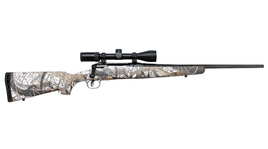 savage axis ii xp 243 win snow camo bolt action rifle with 3 9x40mm