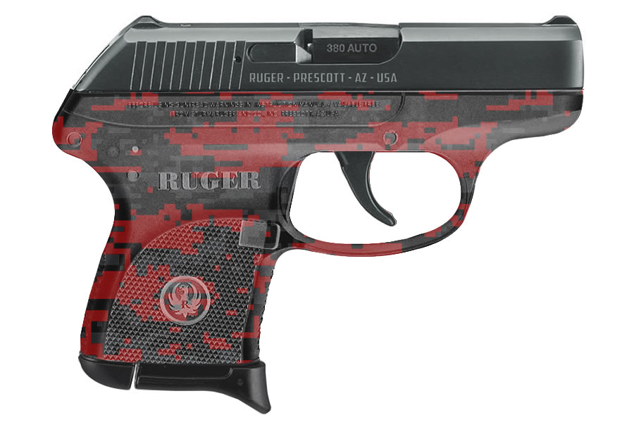 Ruger Lcp 380 Auto With Red Digital Camo Sportsman S