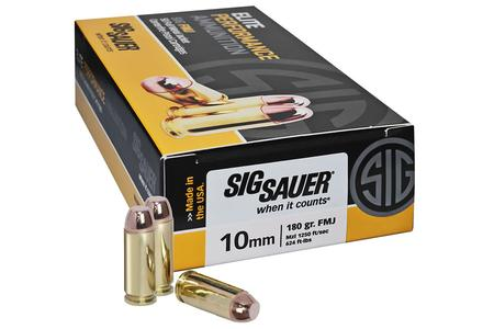 SIG SAUER 10mm Auto 180 gr FMJ Elite Performance 50/Box