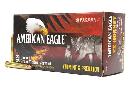 FEDERAL AMMUNITION 22 Hornet 35 gr Tipped Varmint Varmint and Predator 50/Box