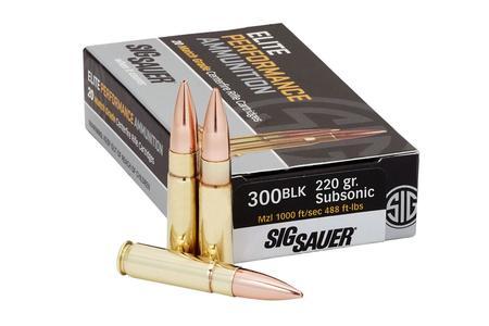 Sig Sauer 300 Blackout 220 gr Sierra MatchKing Elite Match Grade Subsonic 20/Box