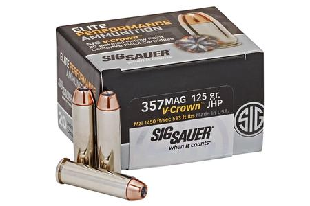 357 MAG 125 GR JHP ELITE V-CROWN 20/BOX