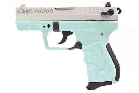 WALTHER PK380 380 ACP WITH ANGEL BLUE FRAME