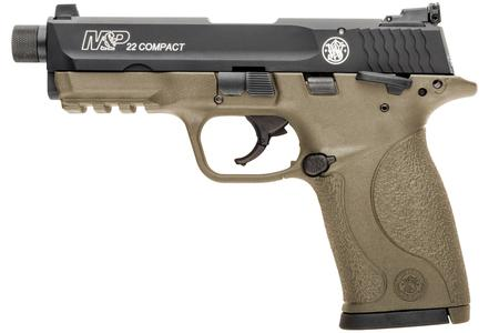 SMITH AND WESSON MP22 COMPACT 22LR FLAT DARK EARTH (FDE)