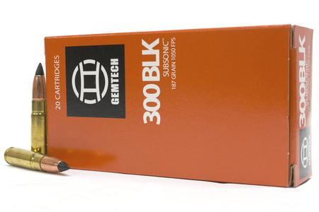 GEMTECH 300 Blackout 187 gr Polymer Tipped Subsonic 20/Box