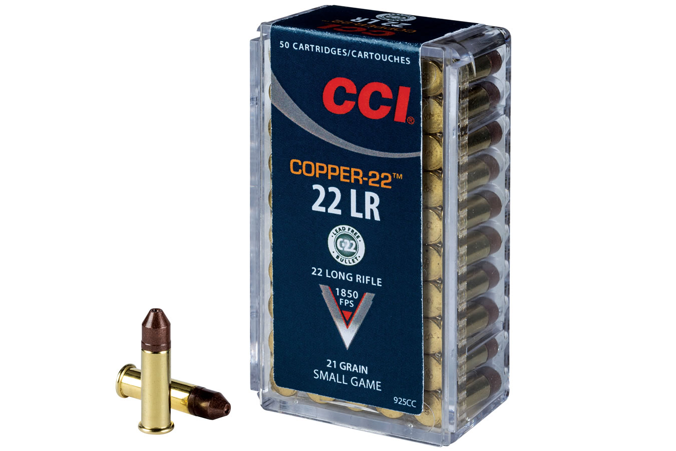 CCI AMMUNITION 22LR 21GR HOLLOW POINT COPPER-22 50/BX