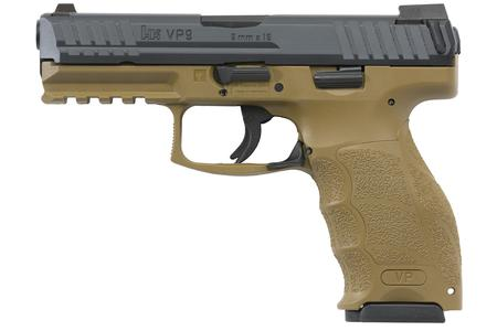 H  K VP9 9MM FLAT DARK EARTH (FDE)