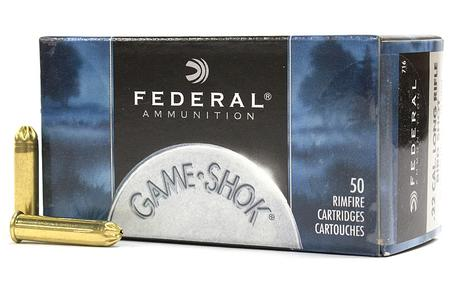 Federal 22LR 25 gr #12 Shot Game-Shok 50/Box