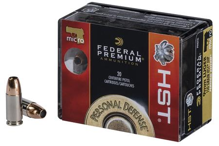 FEDERAL AMMUNITION 9mm Luger 150 gr HST HP Micro Personal Defense 20/Box