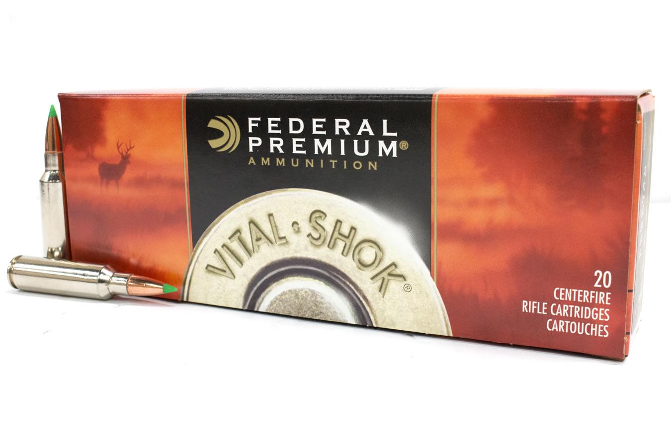 federal 300 wsm 150 gr nosler ballistic tip vital shok 20 box