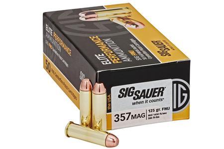 Sig Sauer 357 Mag 125 gr FMJ Elite Ball 50/Box