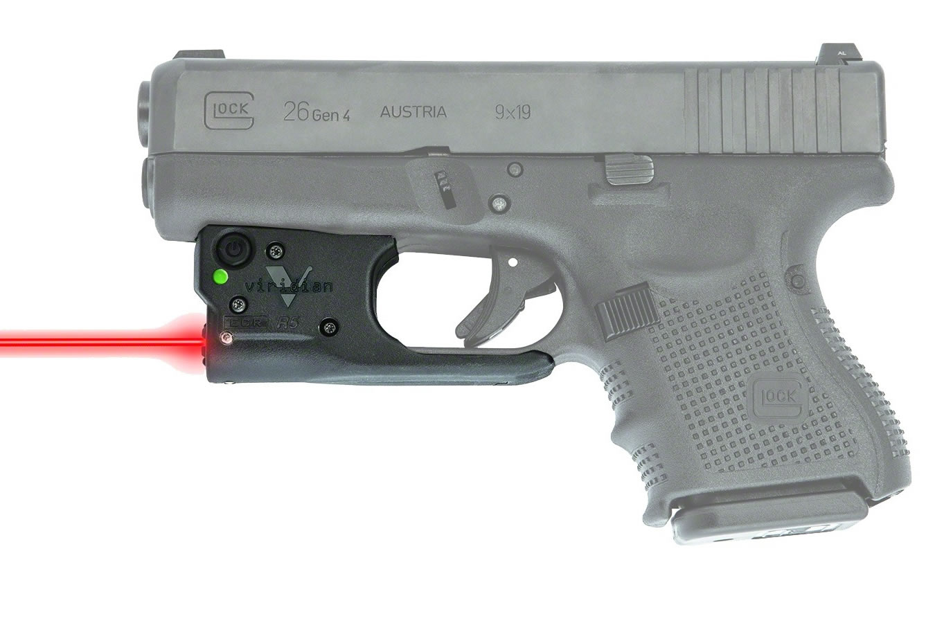 Reactor R5 Red Laser with Hybrid Holster for Glock 19/23/26/27