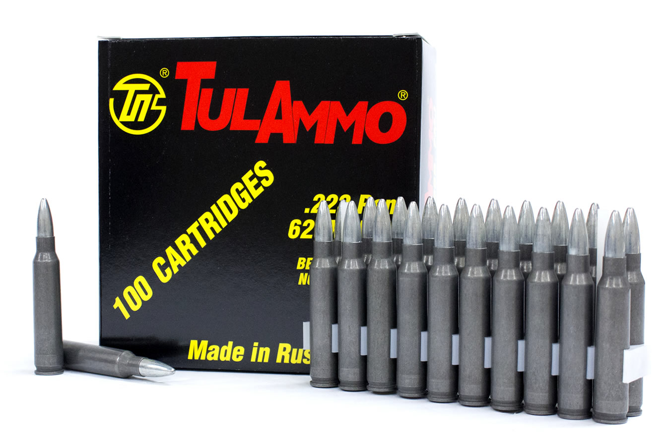 TULA AMMO 223 REM 62 GR FMJ STEEL CASE 100/BOX
