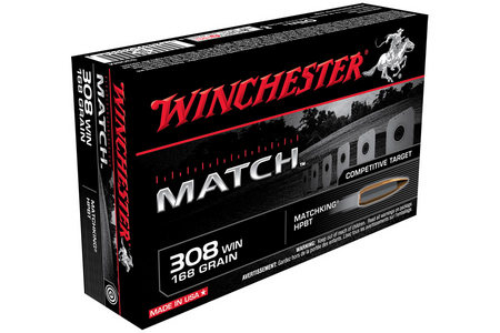 Winchester 308 Win 168 gr HPBT Match 20/Box