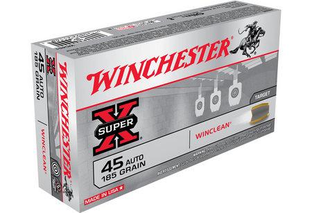 WINCHESTER AMMO 45 AUTO 185 GR WINCLEAN BEB SUPER-X 50/BOX