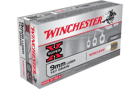 Winchester 9mm Luger 147 gr Winclean BEB Super X 50/Box